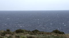 Heavy seas on windy day on Ventotene Island, Italy Stock Footage