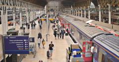 Passenger fades at Paddington station 4K Stock Footage