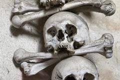 Sedlec ossuary - charnel-house Stock Photos