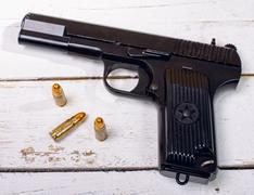 Tokarev pistol used by the red army Stock Photos