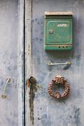 Mailbox and knocker Stock Photos