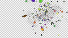 Party Confetti Explosion - 03 - Alpha Channel Stock Footage