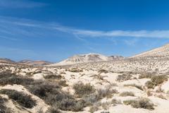Mountain landscape in jandia, fuerteventura Stock Photos