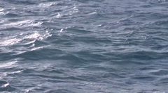 Rough water surface of blue sea Stock Footage