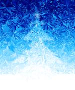 Vector christmas tree - stock illustration