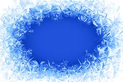 Vector frost frame Stock Illustration