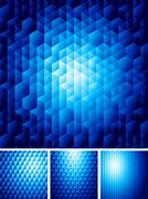 Abstract background with hexagons - stock illustration