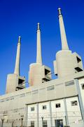 Thermal power plant in sant adria Stock Photos