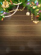Holidays illustration with Christmas decor. EPS 10 Stock Illustration
