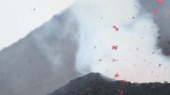 Volcano eruption - stock footage