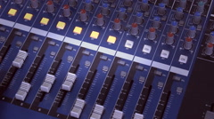 Sound board , recording the voice in the music film studio Stock Footage