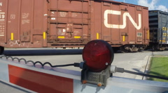 Stopped freight train in South Carolina  Stock Footage