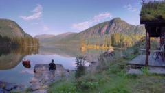 Summer nordic landscape - stock footage