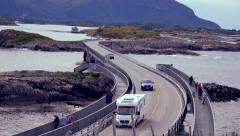 Nordic atlantic highway Stock Footage