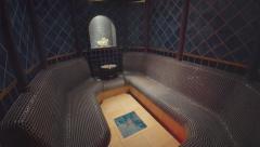 Fancy steam bath Stock Footage