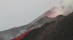 Etna eruption 2014 - stock footage