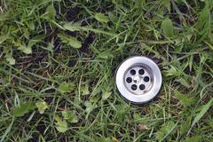 Green grass drain Stock Photos