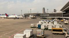 Tokyo-Narita Airport TIme Lapse Stock Footage