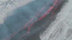 Lava rivers Stock Footage