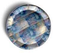 money pie swiss franc - stock illustration