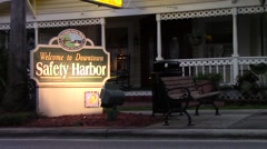 Safety Harbor Downtown Sign Stock Footage