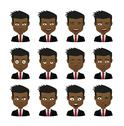 Stock Illustration of male avatar expression set
