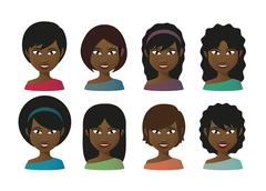 Stock Illustration of female avatars