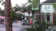 Main Street USA at Dusk Stock Footage