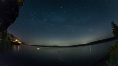 Rising Milky Way over the Puget Sound Stock Footage