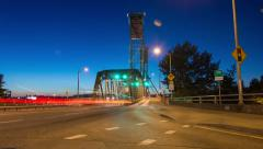 Portland Hawthorne Bridge Traffic During Early Morning Commute Stock Footage