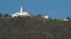 Low Angle Shot of Monserrate Catholic Sanctuary Stock Footage