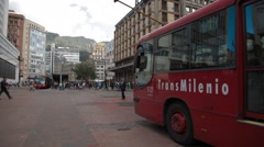 Wide Angle Shot of Bogota's Historical Centre Stock Footage