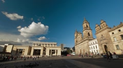 Wide Angle Shot of Bolivar's Plaza Stock Footage