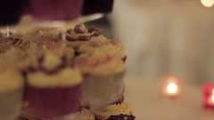 Wedding Cakes Pull Focus Stock Footage