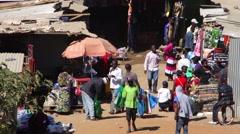 Lusaka market Stock Footage