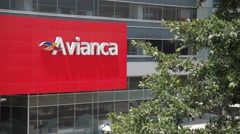 Close Up Shot of Avianca Tower Stock Footage