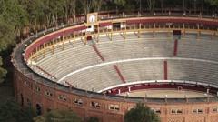 Panoramic Shot of Santamaria Bullfigthing Plaza Stock Footage