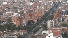 Panoramic Roof Top Shot of Caracas Avenue Stock Footage