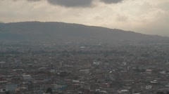 Panoramic Cityscape Shot from the Monserrate's Sactuary Stock Footage