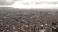Rooftop Cityscape Shot of 26th Avenue and Bogota's International Centre Stock Footage