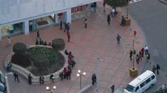 Panoramic Rooftop Shot of Judicial Council - stock footage