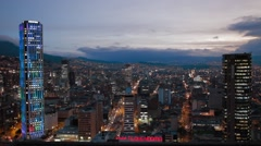 Panoramic cityscape of Bogota's International Centre Stock Footage