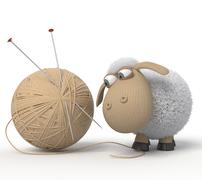3d ridiculous sheep Stock Illustration