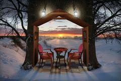 Stock Illustration of Winter Evening