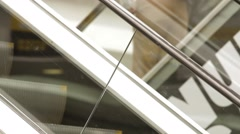 Zoom- In Shot of stairs at the Gran Estacion Shopping Mall Stock Footage