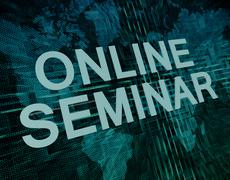 online seminar - stock illustration
