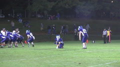 Extra point kick good night game wide shot Stock Footage