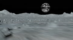 Tracking shot near the surface of the moon  - native version Stock Footage