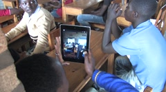 African students in a class in Rwanda - stock footage