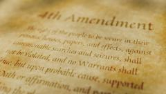 Historic Document 4th Amendment - stock footage